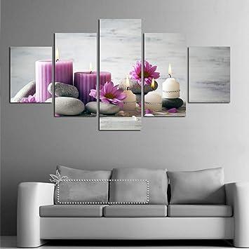 Kshvc Cadre 5 Peinture Communesans Cadre HD Inkjet Rouge ...