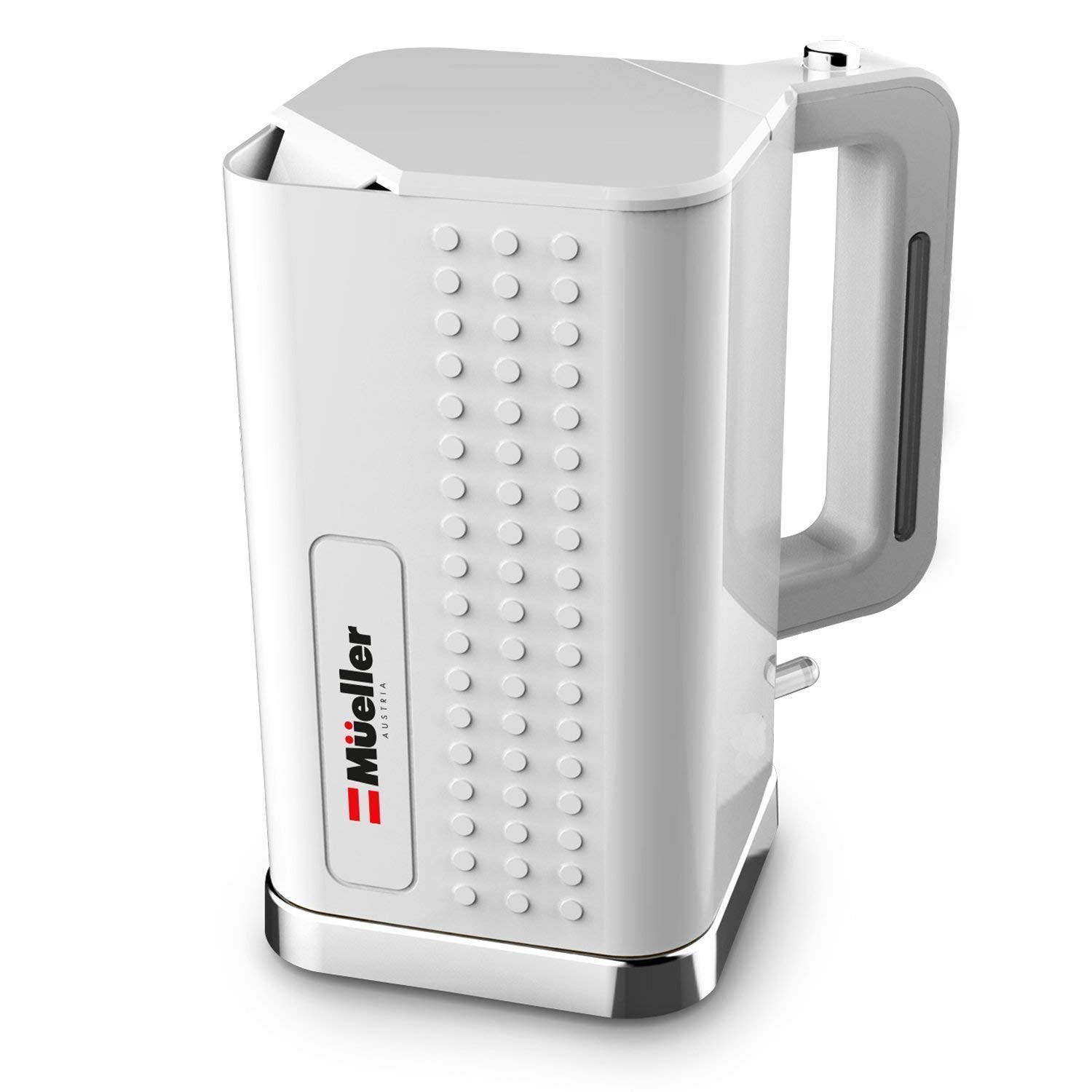 Mueller Austria Electric Kettle Water Heater ExacTemp Modern Powerful 1500W Rapid Technology, Tea Coffee Pot-360 Degree Cordless Swivel Base, BPA-Free, and and Boil-Dry Protection Auto Shut-Off