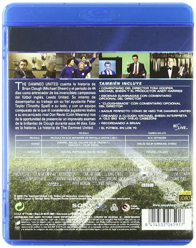 The Damned United - Bd [Blu-ray]: Amazon.es: Michael Sheen, Jim Broadbent, Timothy Spall, Joseph Dempsie, Stephen Graham, Colm Meaney, Tom Hooper, Michael Sheen, Jim Broadbent, Andy Harries: Cine y Series TV