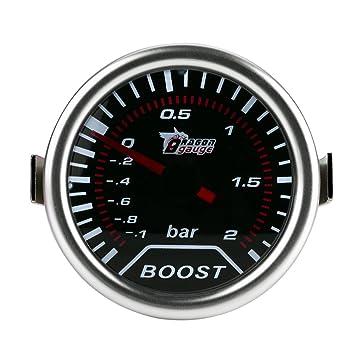 Qiilu 2 pulgadas (50 mm) Universal Turbo Boost Meter Indicador de presión Coche Rojo Led Puntero de barra 12V: Amazon.es: Coche y moto