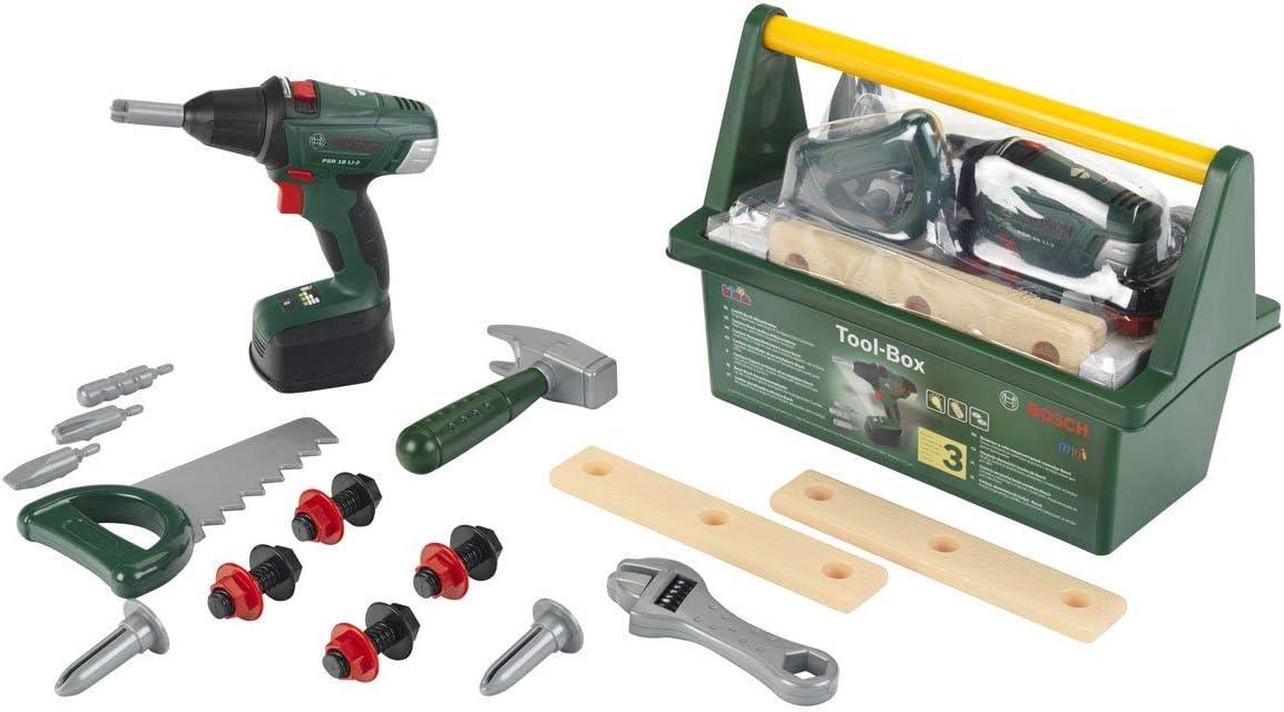 Theo Klein-8520 Bosch Tool Case Con Atornillador De Acumulador, Juguete, Multicolor (8520)