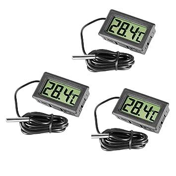 Termómetro digital de acero para nevera y congelador de Inrigorous, color negro, 3 unidades: Amazon.es: Hogar