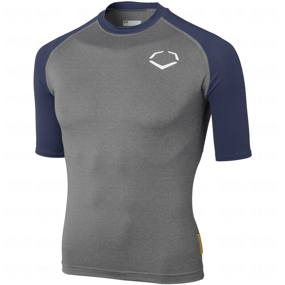 Evoshield Youth 3 / 4スリーブシャツ B00IT89A74 Small|Grey|Navy Grey|Navy Small
