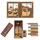 Saloon Wild Wild West/Western Party decorations- Door Cover, Cutouts, Mural, and Sign