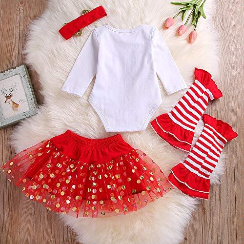 Calcetines Falda Nacido Christmas Niña 1st Tutu Blanco Monos Navidad Conjunto Tops Disfraz 24 Recién 0 Para Meses My Bebe Bebé Diadema Ropa azwPxCq