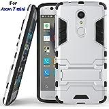 Axon 7 mini Case, ZTE Axon 7 mini Case, MicroP(TM) Dual Layer Armor Hard Slim Hybrid Kickstand Phone Cover Case for ZTE Axon 7 mini (Silver Kickstand Case)