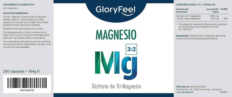 Magnesium Capsules - Citrato de Magnesio: Amazon.es: Salud y cuidado personal