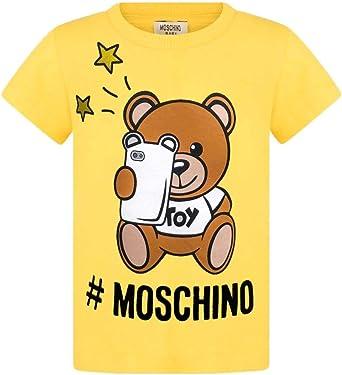 Moschino Camiseta niño/a en algodón, 3/6 Meses, Amarillo: Amazon ...