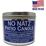 NO NATZ | 16oz. Outdoor Patio Wood Wick Candle | 60-Hour Burn | Ambient Glow | Hand-Crafted Fresh Fragrance (Tin)