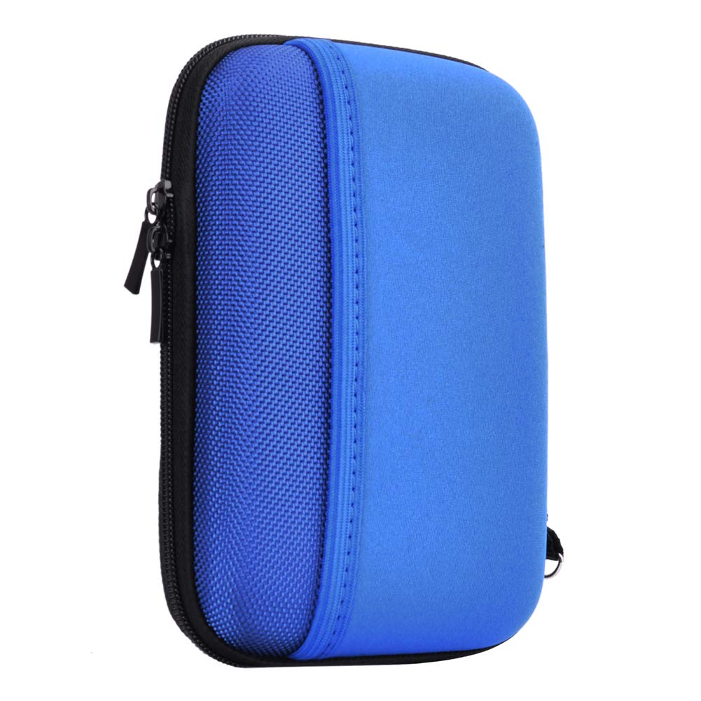 Hard Travel Carrying Case for Seagate Expansion,Backup Plus Slim,WD Elements,My Passport,Toshiba Canvio Basics Portable External Hard Drive,Electronics Organizer (Blue)