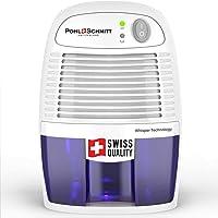 Pohl Schmitt Mini Dehumidifier, 17oz Water Tank, Ultra Quiet - Small Portable Design for Homes, Basements, Bathrooms and…