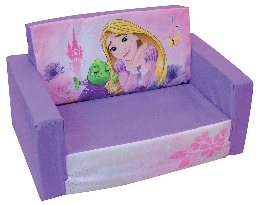 FUN HOUSE Disney Principesse divano convertibile per bambino, schiuma polyeter/Custodia poliestere, 65x 40x 39cm CIJEP 712749