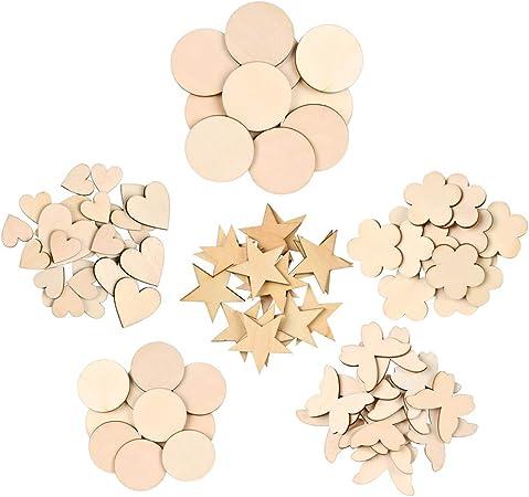 50 Stk Holzblumen Deko Scheiben Tischdeko Verzierung Für Handwerk Basteln