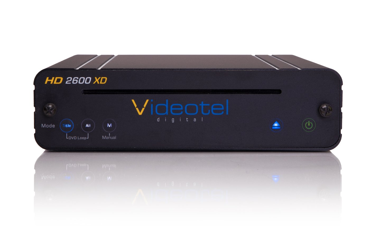 Videotel HD2600XD (HD2600S upgraded) Premium Industrial Grade Looping DVD Player - Auto Powers On, Auto Plays , Auto Loops & Seamlessly Auto Repeat Play 24/7 UL & CE Approved