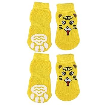 Calcetines antideslizante pequeños para perros o gatos, con huellas: Amazon.es: Productos para mascotas