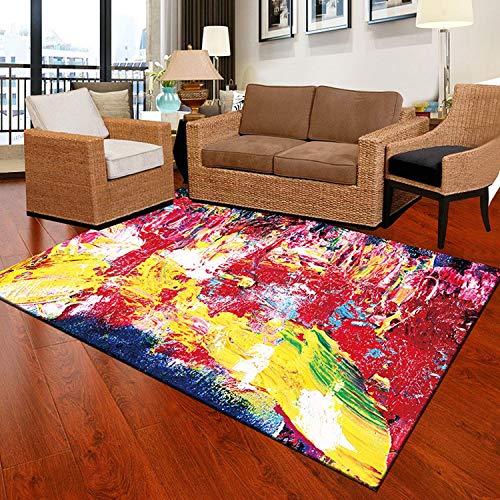 (Watercolor Carpets for Living Room Non-Slip Kids Room Carpet Office Chair Floor Mats Flannel Bedroom Carpet)