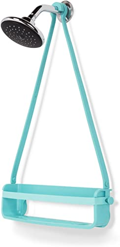 Umbra Flex Single Shower Caddy, Surf Blue