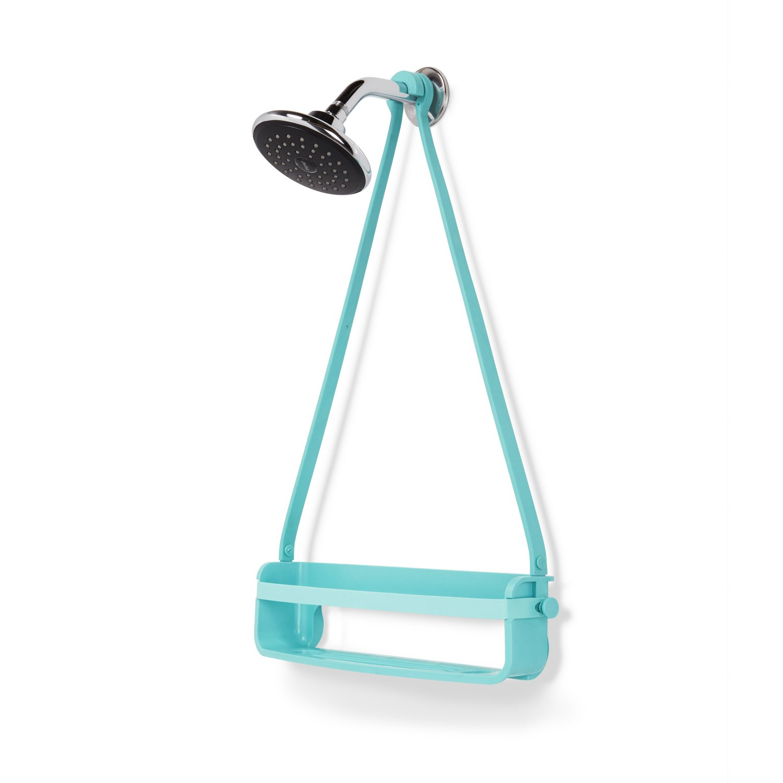 Umbra Flex Single Shower Caddy, Surf Blue