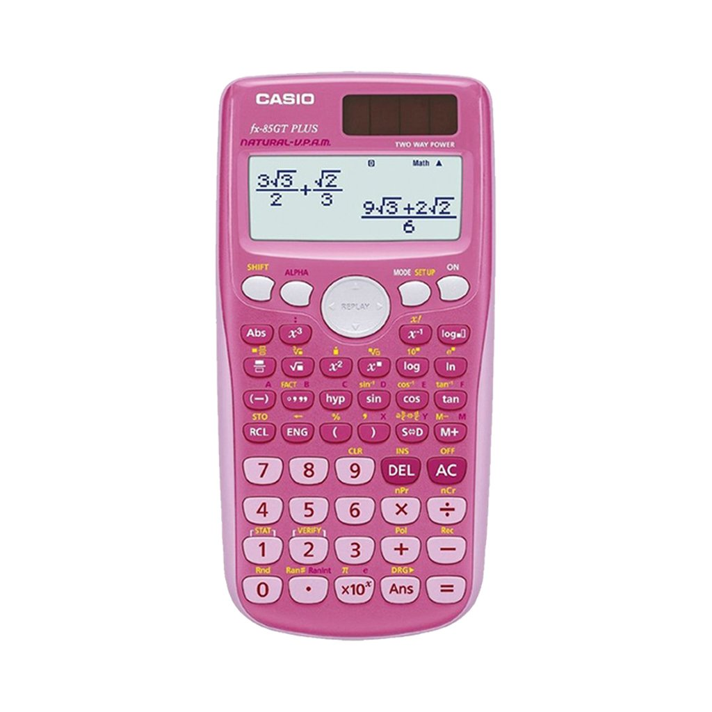 Casio FX 85 GT Plus Pink Taschenrechner GeometrieSet und Garantie