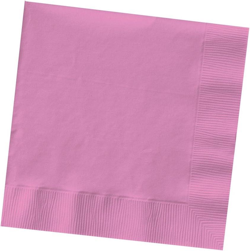 Creative Converting Bright Pink Beverage Paper Napkins, 50 Count, Turquiose