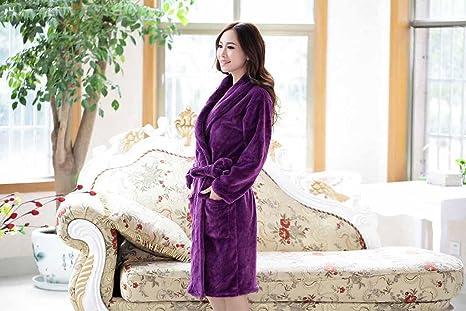 DJMujeres coral polar batas de pijamas camisones mujer Inicio ropa , 3