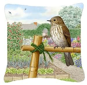 "Caroline's Treasures ASAD0688PW1818 Spotted Flycatcher by Sarah Adams Decorative Pillow, 18"" x 18"", Multicolor"