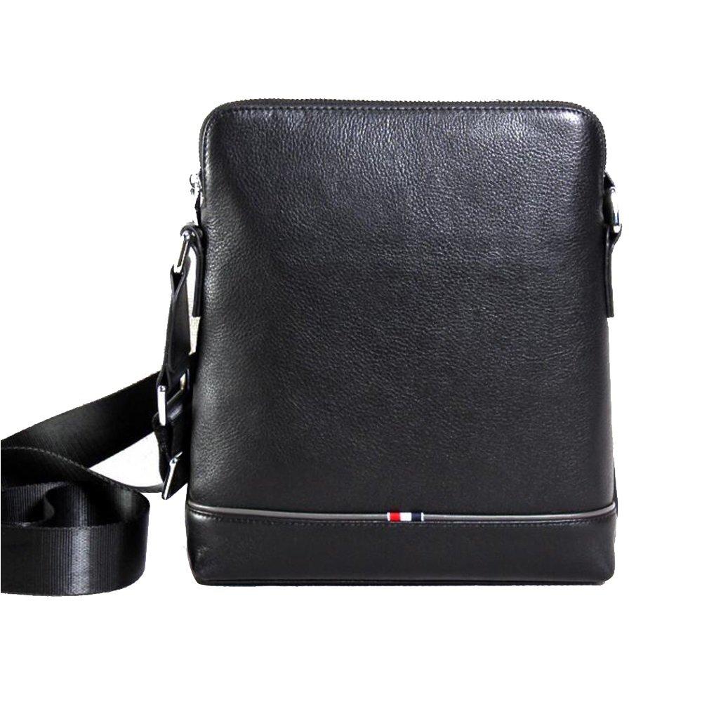 JIANFCR Herren Leder Geschäft Bag Herren Medium Größe Messenger Schultertasche/Verstellbarer Schultergurt für die Reise Flug Reise Arbeit Jeden Tag