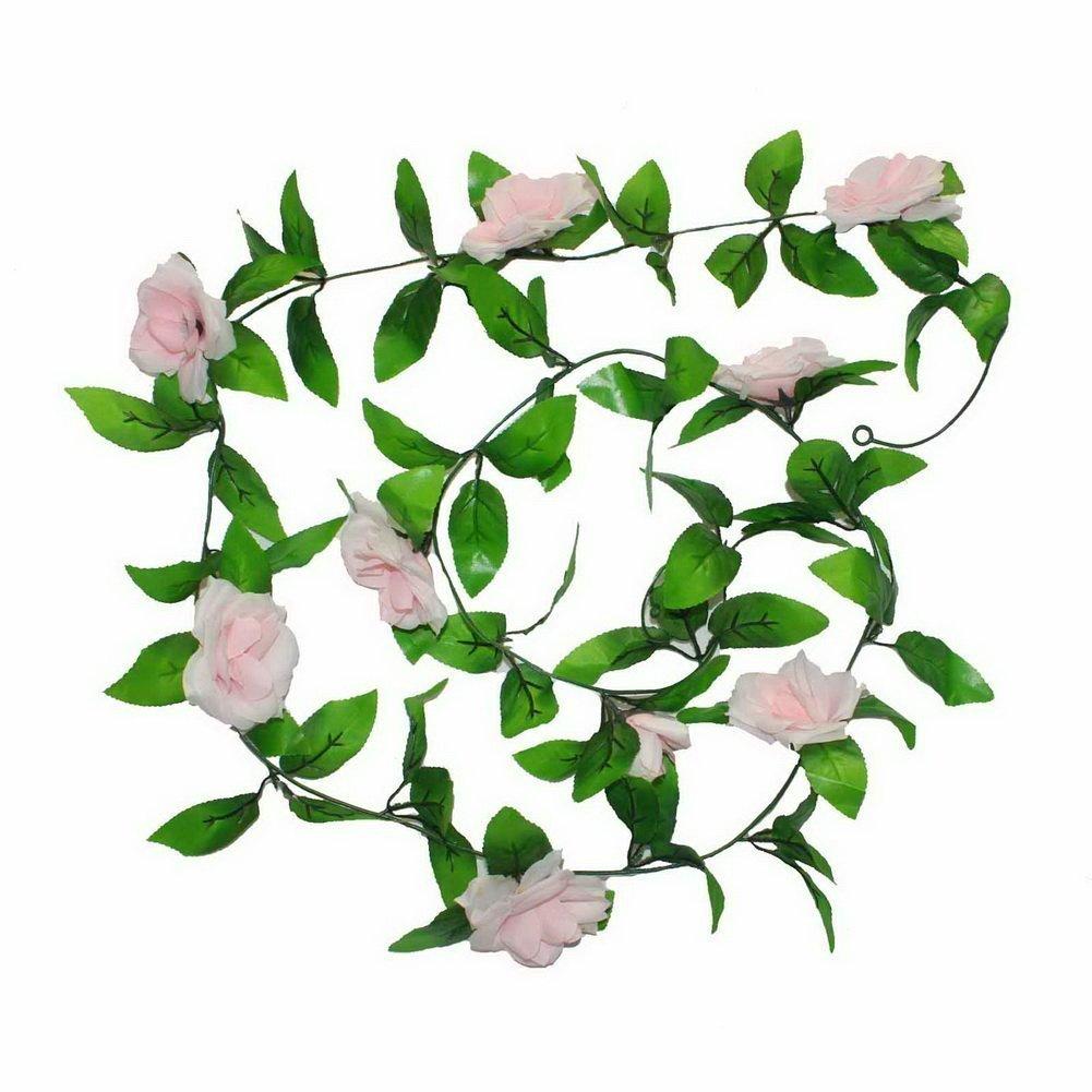 TOOGOO(R) Rose Vine Guirlande Feuillage Feuille Fleur Plante Deco Mariage Fete £¨Champagne£© SHOMAGT12891