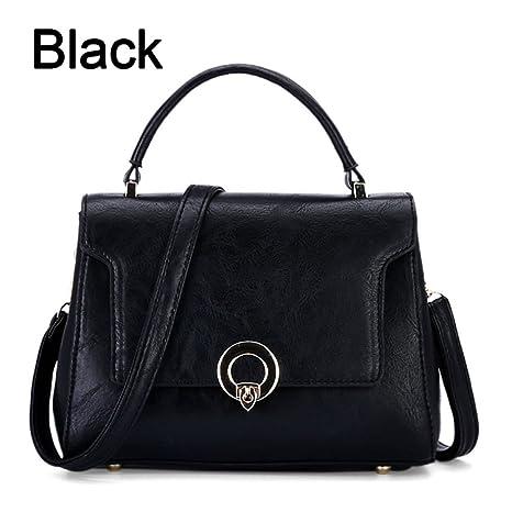0299fc72a987 Women Handbags Designer Female Bags Handbags Trendy Metal Buckle Crossbody  Bags For Women Korean Black About