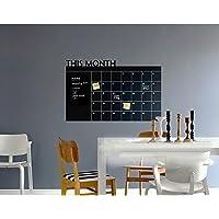 Dolity Agenda de Memorandos Do Planejador Mensal Quadro-negro Calendário de Adesivos de Parede com Decalques