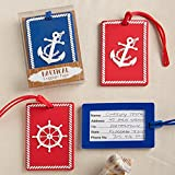 Anchor and Wheel Nautical Themed Luggage Tags, Pack of 4