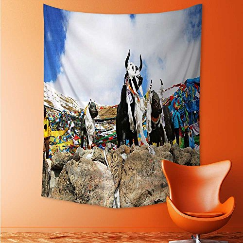 AuraiseHome Copper Yak Wall Hanging Yoga/Picnic/Camping for sale  Delivered anywhere in Canada