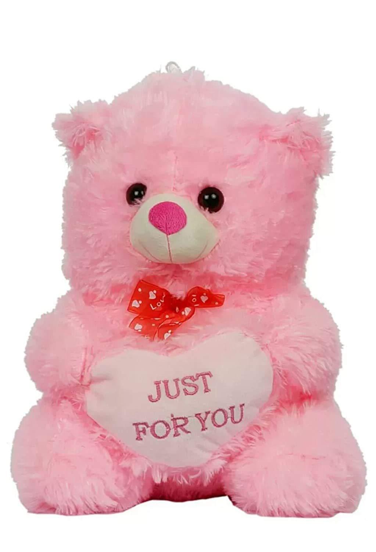 Jack Royal Stuffed Spongy Heart Teddy Bear Plush Soft Toy (Pink - 45 cm)
