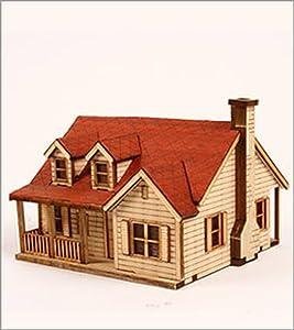 DESKTOP Wooden Model Kit Western House 2 by Young Modeler