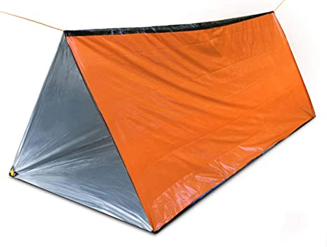 Bearhard Emergency Tent Large Lightweight Compact Rescue PE Tube Tent Foil Survival Tent Shelter