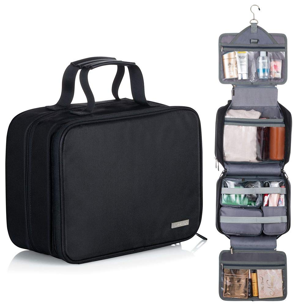 Lizzton Hanging Toiletry Bag for Women Large Travel Accessories Organizer Kit Waterproof Makeup Cosmetic Bag by Lizzton