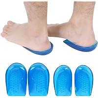 Plantillas Talón de Gel 2Par corrector de pie O / X Forma Ortótica Arco Zapatos de soporte Insertar almohadillas Copa de talón