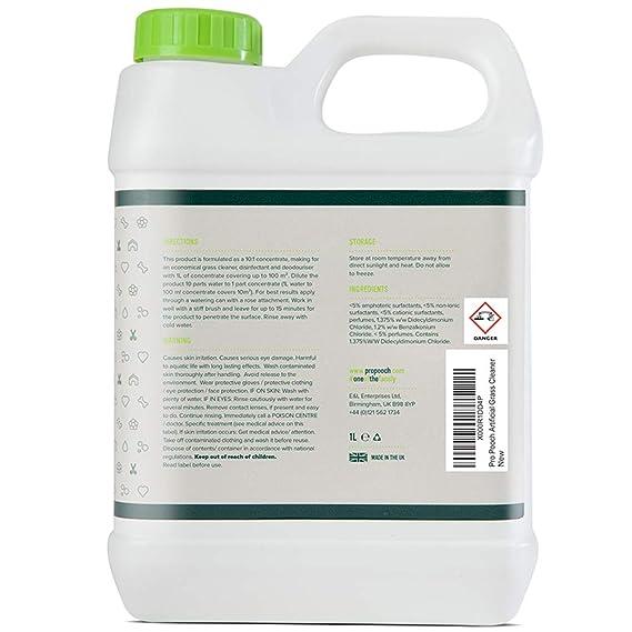 Pro Pooch Limpiador de Pasto Artificial para Perros (Súper Concentrado) | Desinfectante y Desodorizante | Botella [1 litro] fácil Almacenamiento.