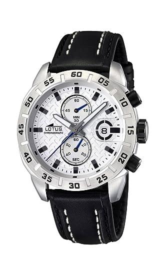 3b7ad104b454 Lotus 15682 1 - Reloj cronógrafo de Cuarzo para Hombre con Correa de Piel