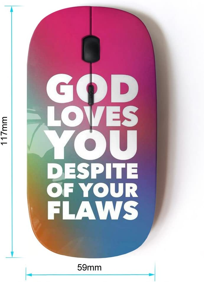 Optical 2.4G Wireless Computer Mouse KOOLmouse BIBLE VERSE GOD LOVES YOU