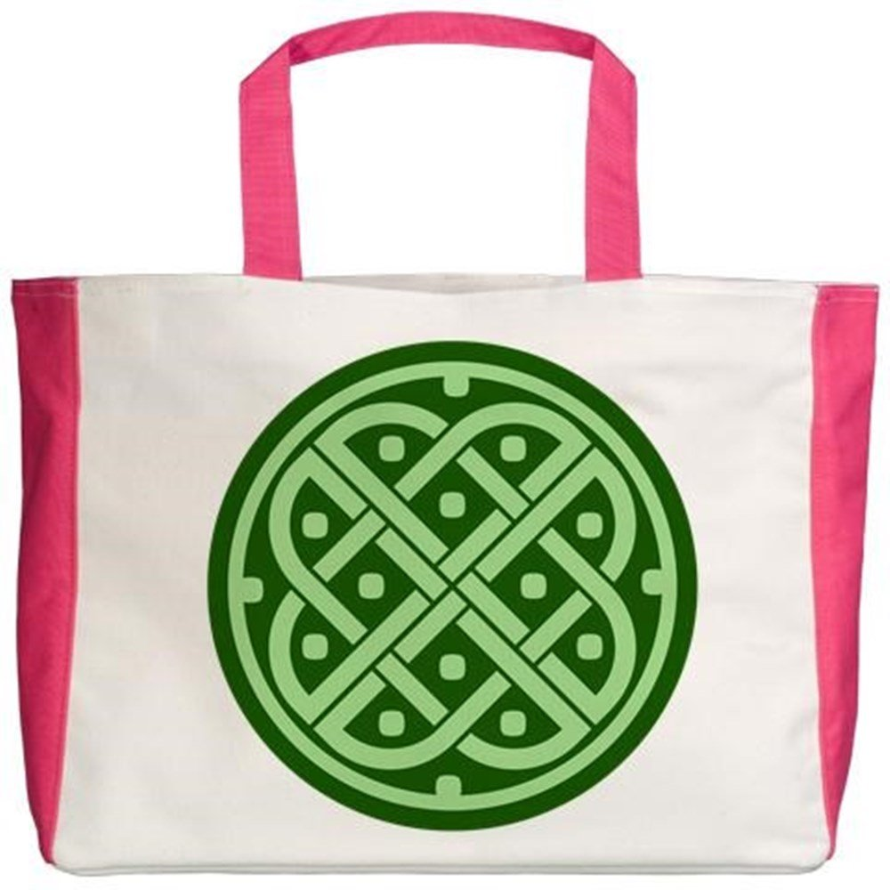 2-Sided Royal Lion Beach Tote Celtic Knot Interlinking