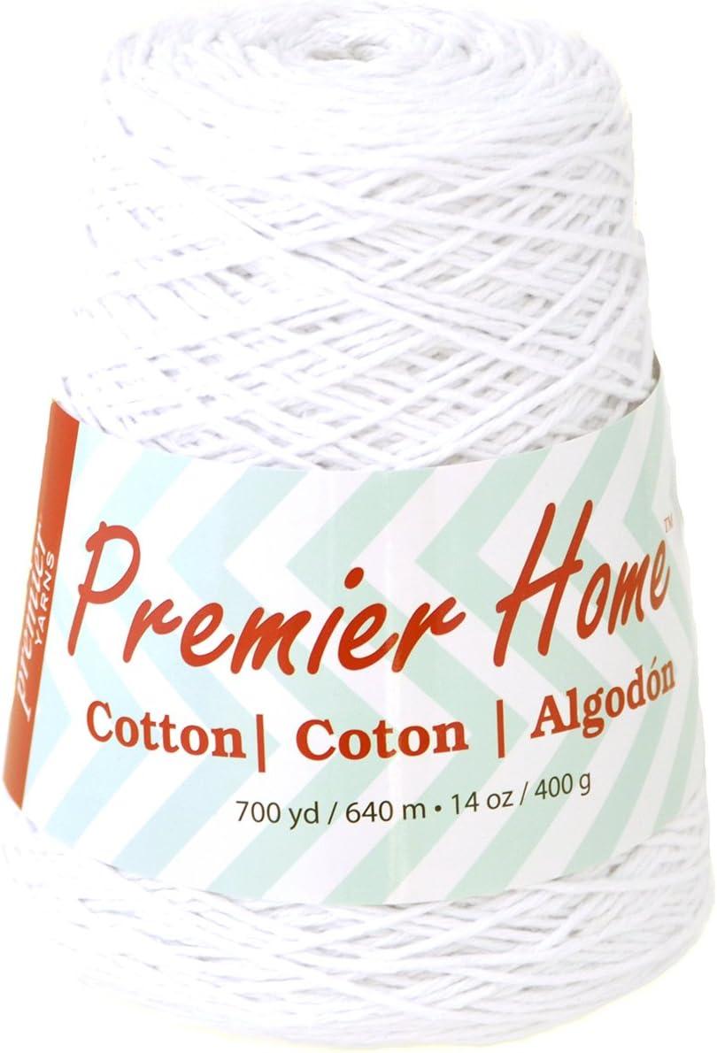 Premier Home Cotton Yarn Cone, White