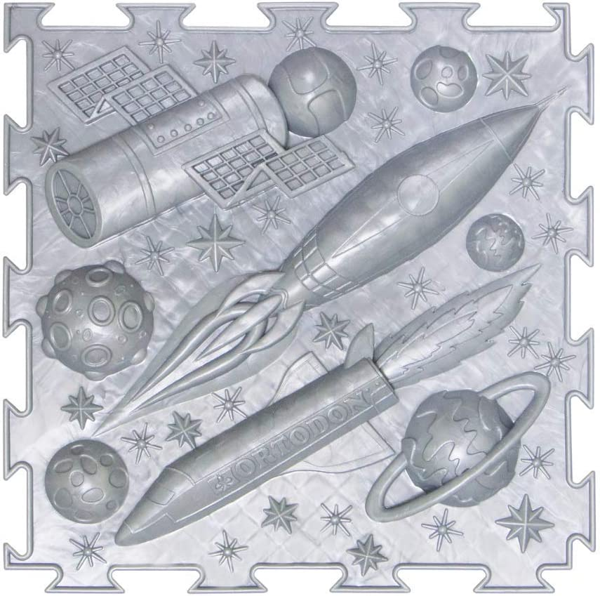 Space Theme Set of Module Massage Game Mats for Kids Orthopedic Massage Puzzle Floor mats Carpet