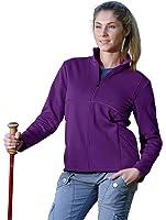 Womens Lightweight Polyknit Reflective Stripe Full-Zip Sport Fleece Spark Jacket
