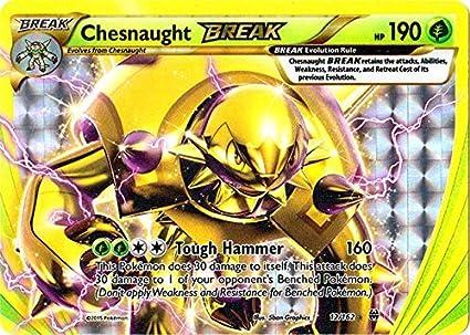 Pokemon Chesnaught BREAK BREAKthrough 12//162 Holo Mint