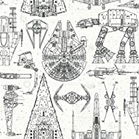 Amazon Com Roommates Star Wars Blueprint Peel And Stick Wallpaper Home Improvement