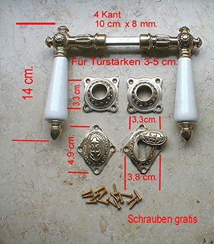 Graf von Gerlitzen Antik Messing T/ür Griff T/ürgriffe Rosetten BB T/ürbeschlag R21A