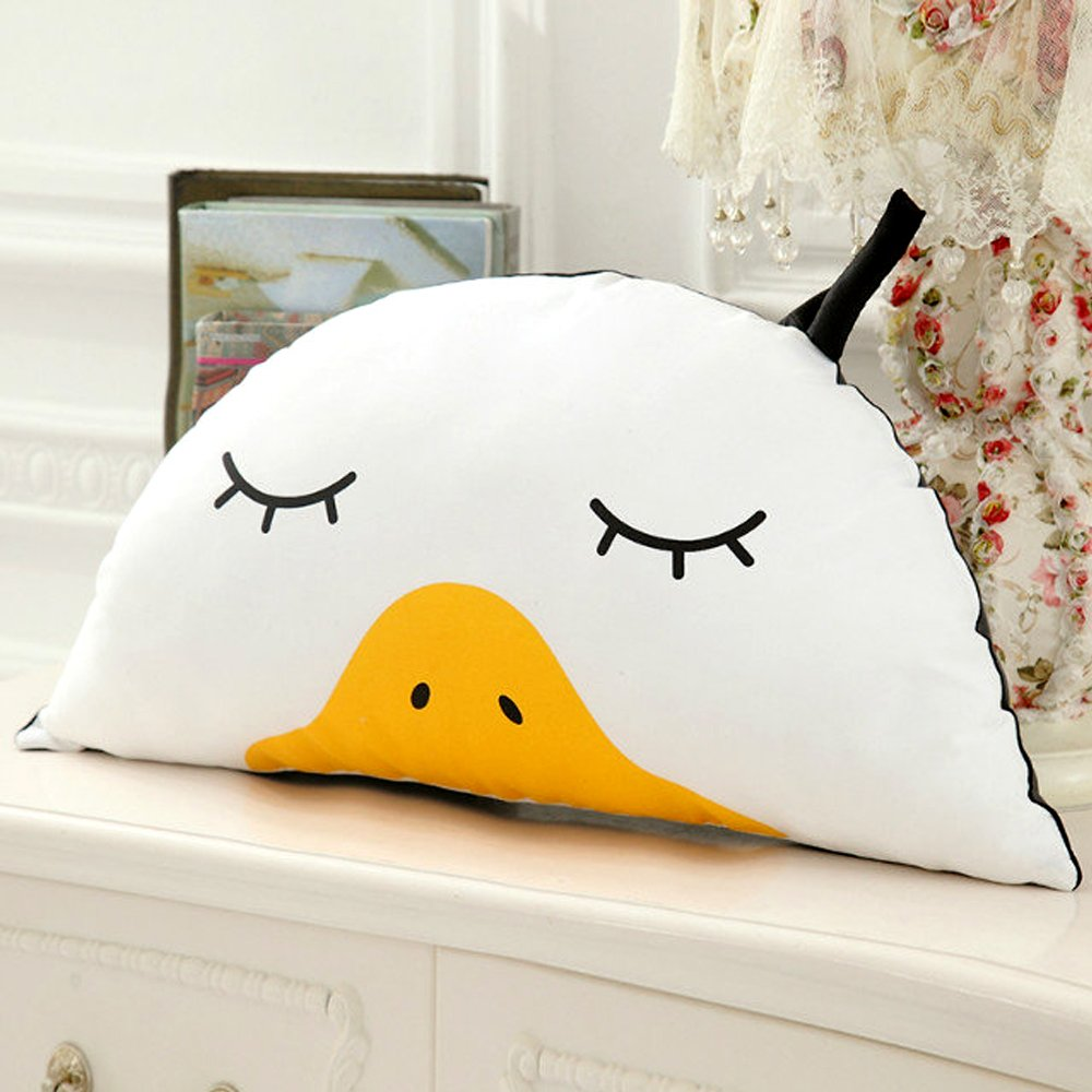Hiltow Cute Duck Pillow Cushion Stuffed Animal Doll Realistic Looking Plush Toys Plushie Children's Gifts Animals