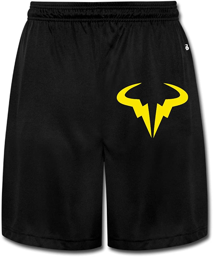 Mgter66 Men S Rafael Nadal Tennis Player Logo Short Pants Black At Amazon Men S Clothing Store
