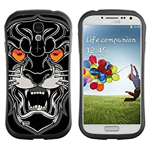 Hybrid Anti-Shock Bumper Case for Samsung Galaxy S4 / Plack Panther
